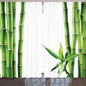 New Asian Decor 2 Curtain Panels By Ambesonne